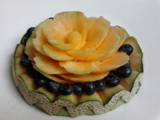 Carved Cantaloupe by Jessica Stroia