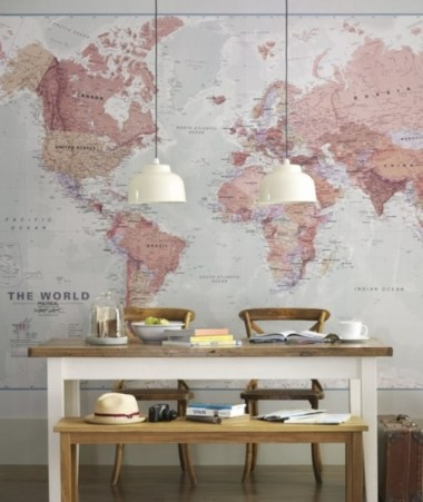 Ideas-Wall-Decor-Design-with-World-Map-Wallpaper-505x600
