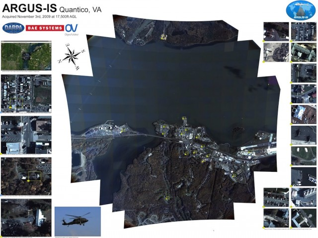 1.8 gigapixel ARGUS-IS. World's highest resolution video surveillance platform by DARPA