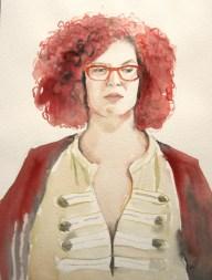 Anja, 2014, watercolor on paper