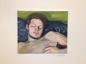 Rok sleeping, 2014, acrylic on canvas