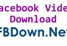 facebook video download with fbdown.net