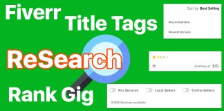Fiverr Keyword Title Tag Research to Easily Rank Gig top on Search