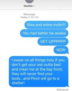 running nightmares - sleeping through the alarm
