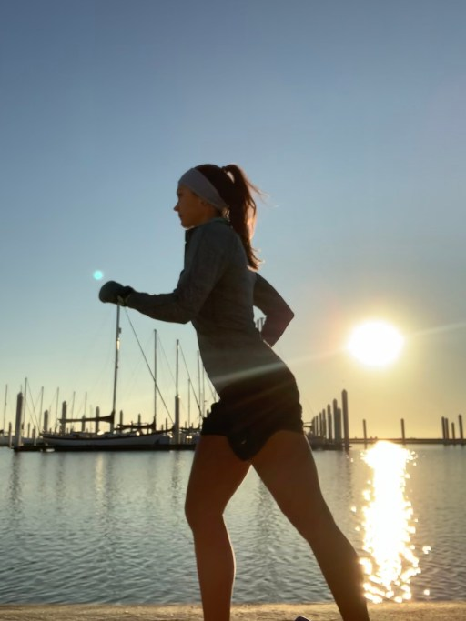 running on the bayfront