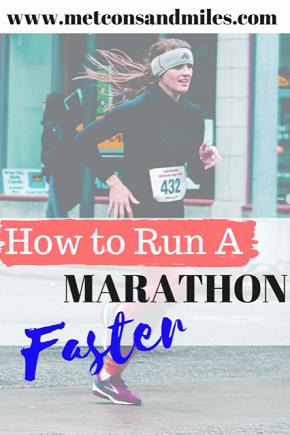how to run a marathon faster