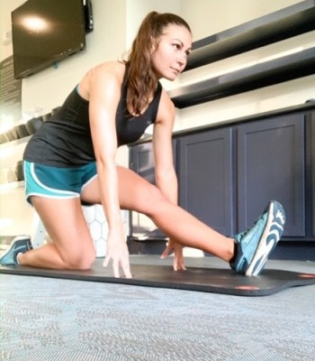 crossfit and running - stretching