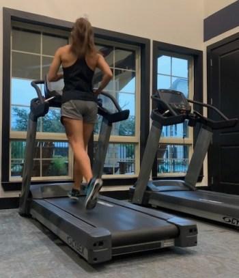 crossfit and running - treadmill running