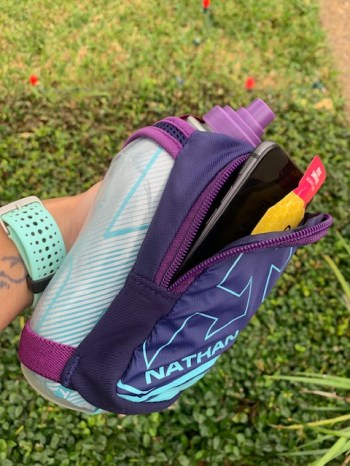 running gear essentials for spring - Nathan handheld water bottle - Nathan hydration