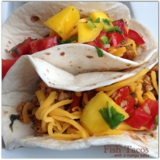 Mexican Night… Fish tacos with mango salsa