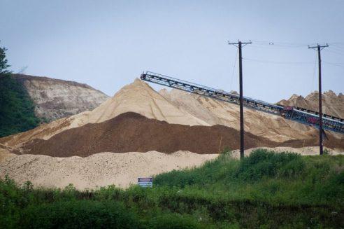 Frac sand in Wisconsin. Photo by Tara Lohan.