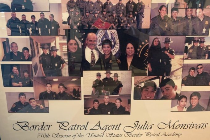 A collage of Julia Monsivais with her friends, family and fellow Border Patrol agents. (Courtesy of the Monsivais family)