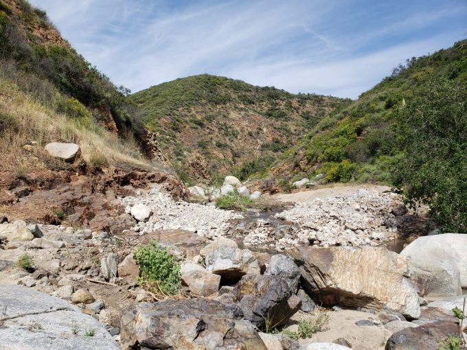San Juan Creek in the Cleveland National Forest shortly after a dam was removed. Photo: Julie Donnell, USFS