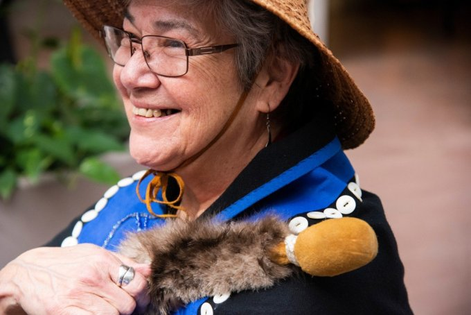 As part of WECAN International's Women for Forests program, Kashudoha Wanda Culp travelled to Washington D.C. to advocate for the protection of her homelands in the Tongass rainforest. (Photo: Melissa Lyttle)