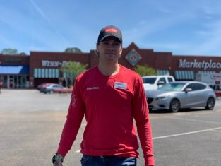 Nathan Tetreault stopped coming into work at a Winn-Dixie supermarket in Pensacola, Fla., because he felt sick. But without paid time off, he says he needed to return quickly. Credit: Courtesy of Rebecca Tetreault