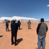 Photo: Navajo President with the U.S. Army Corps of Engineers and Arizona National Guard assessing possible sites for a Federal Medical Station. Photo Western Navajo Fairgrounds by Navajo President's Office.