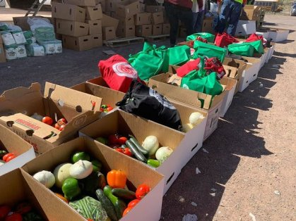 Fresh food delivered by Navajo President's Office