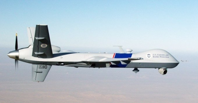 A U.S. Customs and Border Protection Predator drone like the one reportedly flown over Minneapolis. (Image: U.S. Customs and Border Patrol)