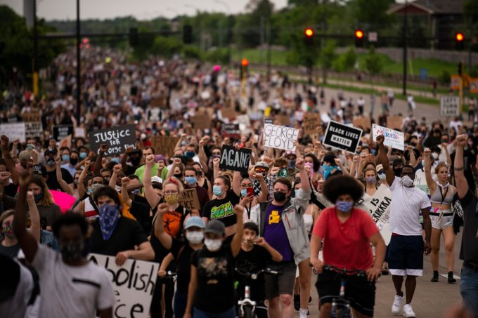 The agency's greatly reduced staff has been absent from demonstrations during perhaps the most significant civil rights moment in a half century. (Stephen Maturen/Getty Images)