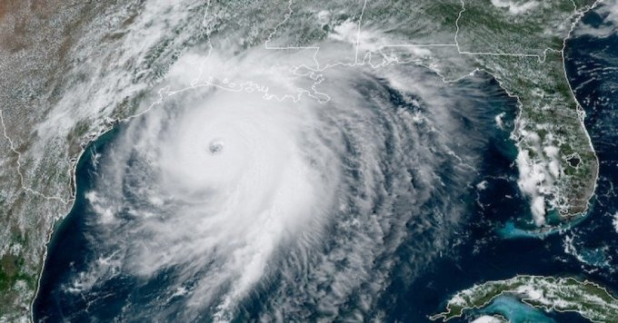 Satellite imagery from NOAA taken August 26, 2020, shows Hurricane Laura in the Gulf of Mexico. (Image: NOAA)