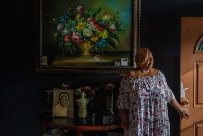 Connie Norman, photographed in the New Orleans home where her husband, Ferdinand, died. (Kathleen Flynn/ProPublica)