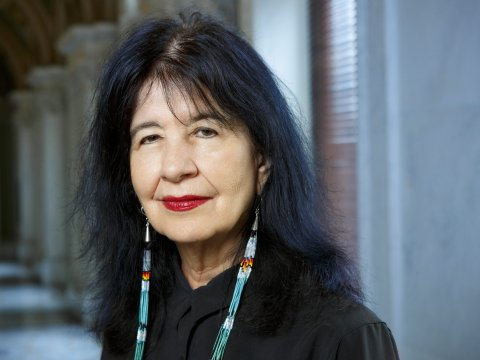 Joy Harjo, poet laureate of the United States, has just begun her third term. (Photo by Shawn Miller/Library of Congress)