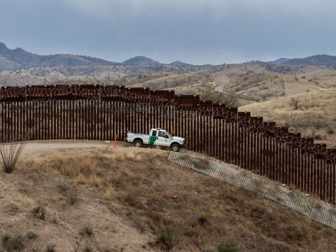 The U.S.-Mexico border fence in Nogales, Arizona. Credit: Ariana Drehsler/AFP via Getty Images