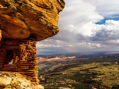 The Navajo, Hopi, Ute and Zuni tribes all have historical roots in the area known as Bears Ears, which also is home to important environmental sites, say supporters of the move to re-establish a 1.36 million acre national monument in the southern Utah lands. (Photo by Josh Ewing/Bears Ears Inter-Tribal Coalition)