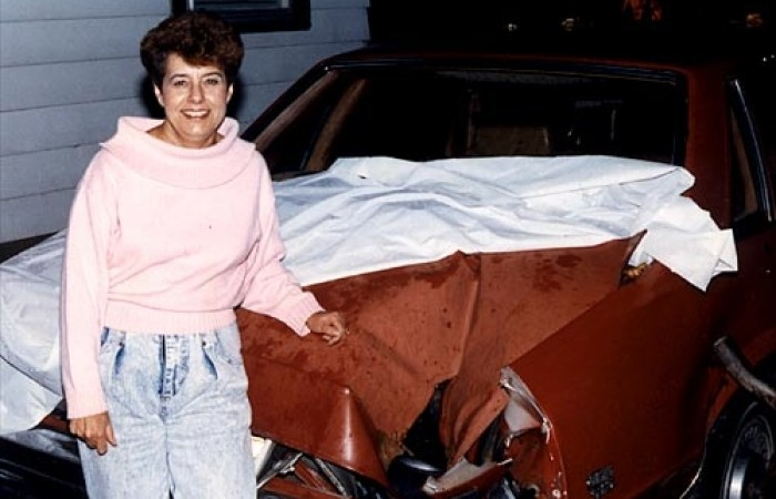 Peekskill Meteorite Car Michelle Knapp
