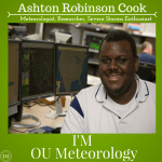 I'M Meteorology series continues with Ashton Robinson Cook