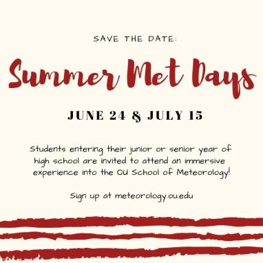 Summer Met Days - University of Oklahoma School of Meteorology