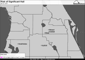 Archived Hail Risk Map