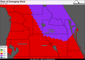 Archived Damaging Wind Map