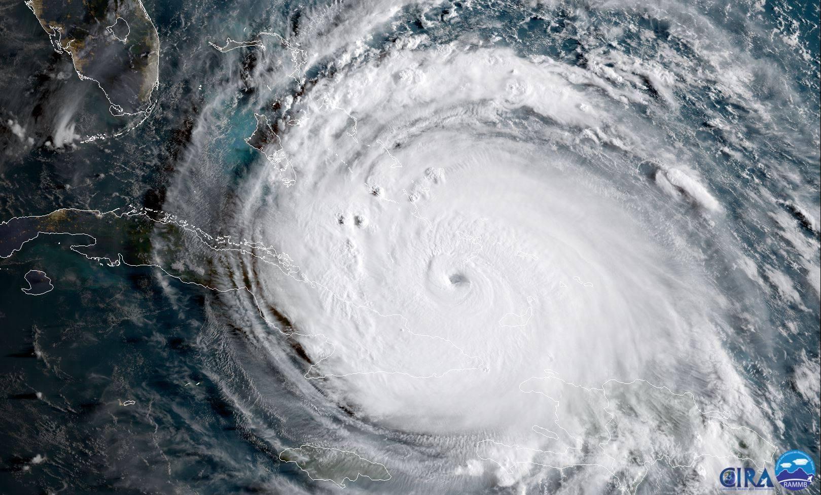 Satellite image of Hurricane IRMA (Credit: NOAA/CIRA)