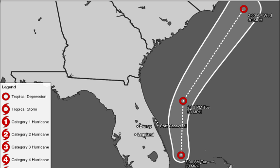 Tropical Track Map