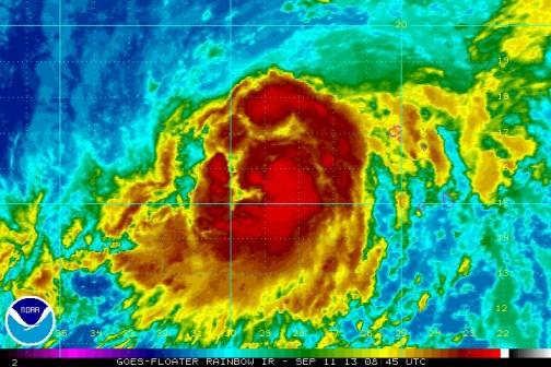 A LAS 5:00 AM AST...0900 UTC...EL CENTRO DE LA TORMENTA TROPICAL  HUMBERTO ESTABA LOCALIZADO CERCA DE LA LATITUD 16.0 NORTE...LONGITUD  28.9 OESTE. HUMBERTO SE MUEVE HACIA EL NOR-NOROESTE A CERCA DE 8  MPH...13 KM/H. SE ESPERA QUE EL CICLON GIRE HACIA EL NORTE A UNA  VELOCIDAD DE TRASLACION MAYOR DURANTE LOS PROXIMOS DOS DIAS. LOS VIENTOS MAXIMOS SOSTENIDOS HAN AUMENTADO A CERCA DE 75 MPH...130  KM/H...CON RAFAGAS MAS FUERTES. HUMBERTO PUEDE FORTALECERSE MAS HOY  ANTES DE COMENZAR A DEBILITARSE EL JUEVES.  VIENTOS CON FUERZA DE HURACAN SE EXTIENDEN HASTA 25 MILLAS...35  KM...DESDE EL CENTRO...Y VIENTOS CON FUERZA DE TORMENTA TROPICAL SE  EXTIENDEN HASTA 115 MILLAS...185 KM. LA PRESION MINIMA CENTRAL ESTIMADA ES DE 992 MB...29.29 PULGADAS.