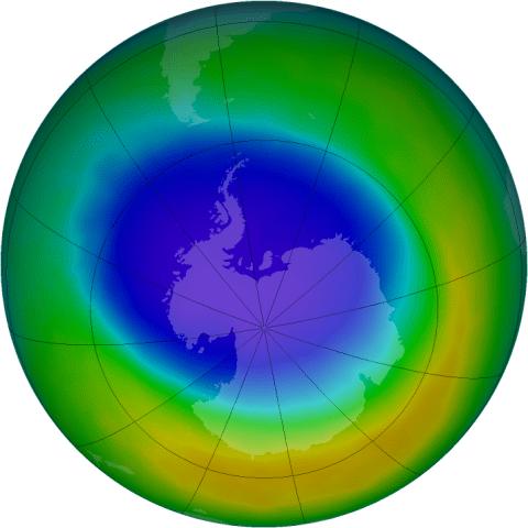 Por 3era. vez en éste año, el agujero de la capa de ozono llega hasta el Sur de Argentina y Chile