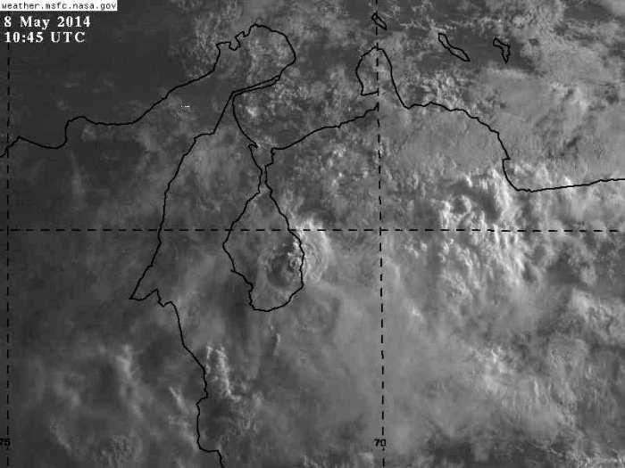 Nubosidad destacable desde Carabobo, Centro Occidente, Andes, Zulia y parte de los Llanos Occidentales