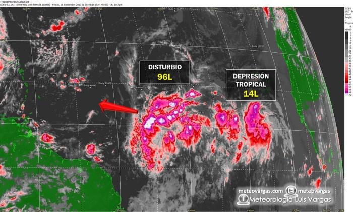 En atención El Caribe Oriental ante el avance de un fuerte disturbio con chance de ser ciclón tropical