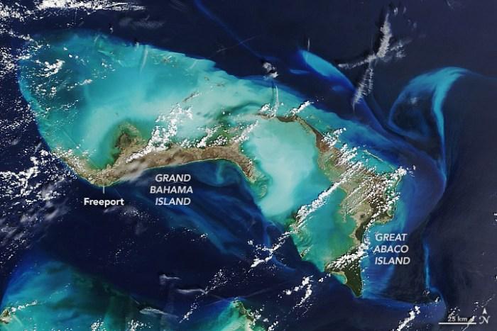 El antes y después de Bahamas visto desde el espacio, tras el paso del devastador Huracán Dorian