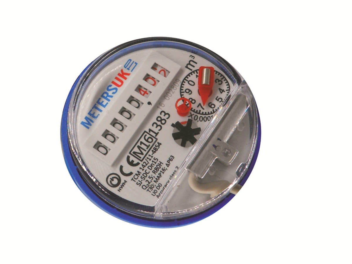 Single Jet Budget Water Meter Hot Cold 15mm To 40mm Dial