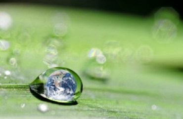 world in waterdrop