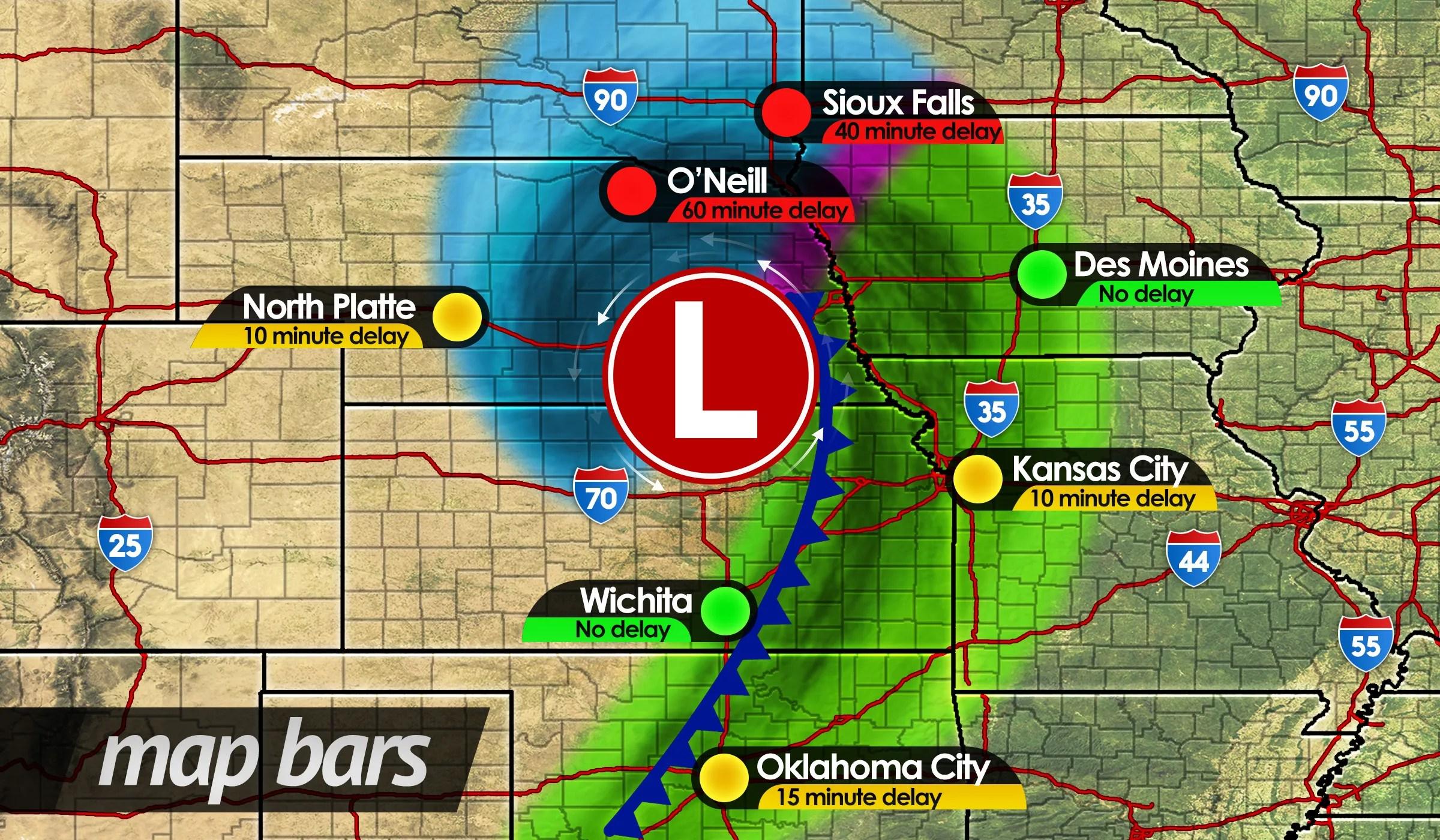 Travel Delay Data Displays | MetGraphics | Weather Graphics ...
