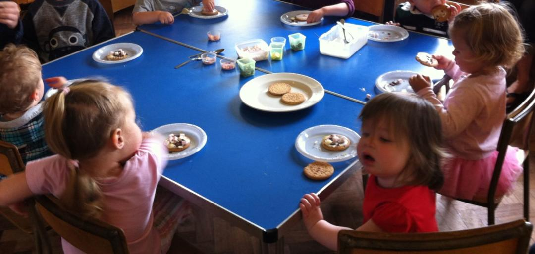 Decorating Biscuits is the classic Food Based Toddler Group Activities