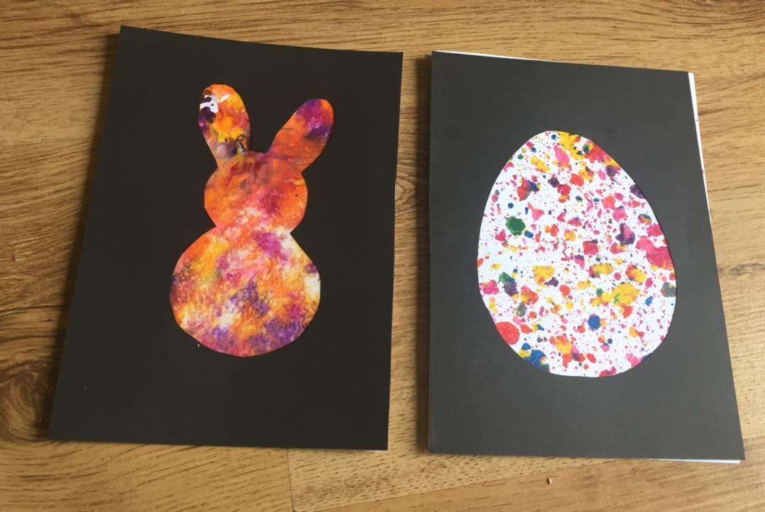 Melted Crayon Cards for Easter