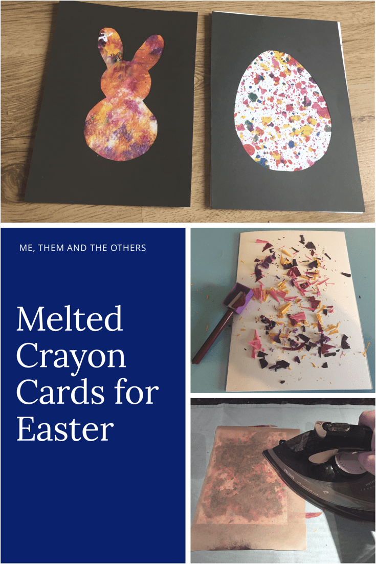 Melted crayon cards for Easter (and any other celebration!)