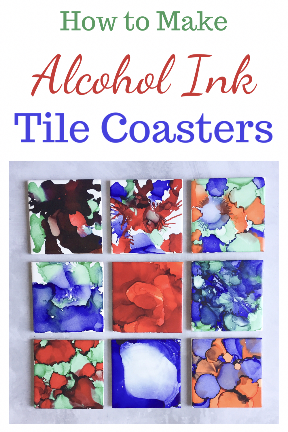How to make alcohol ink tile coasters