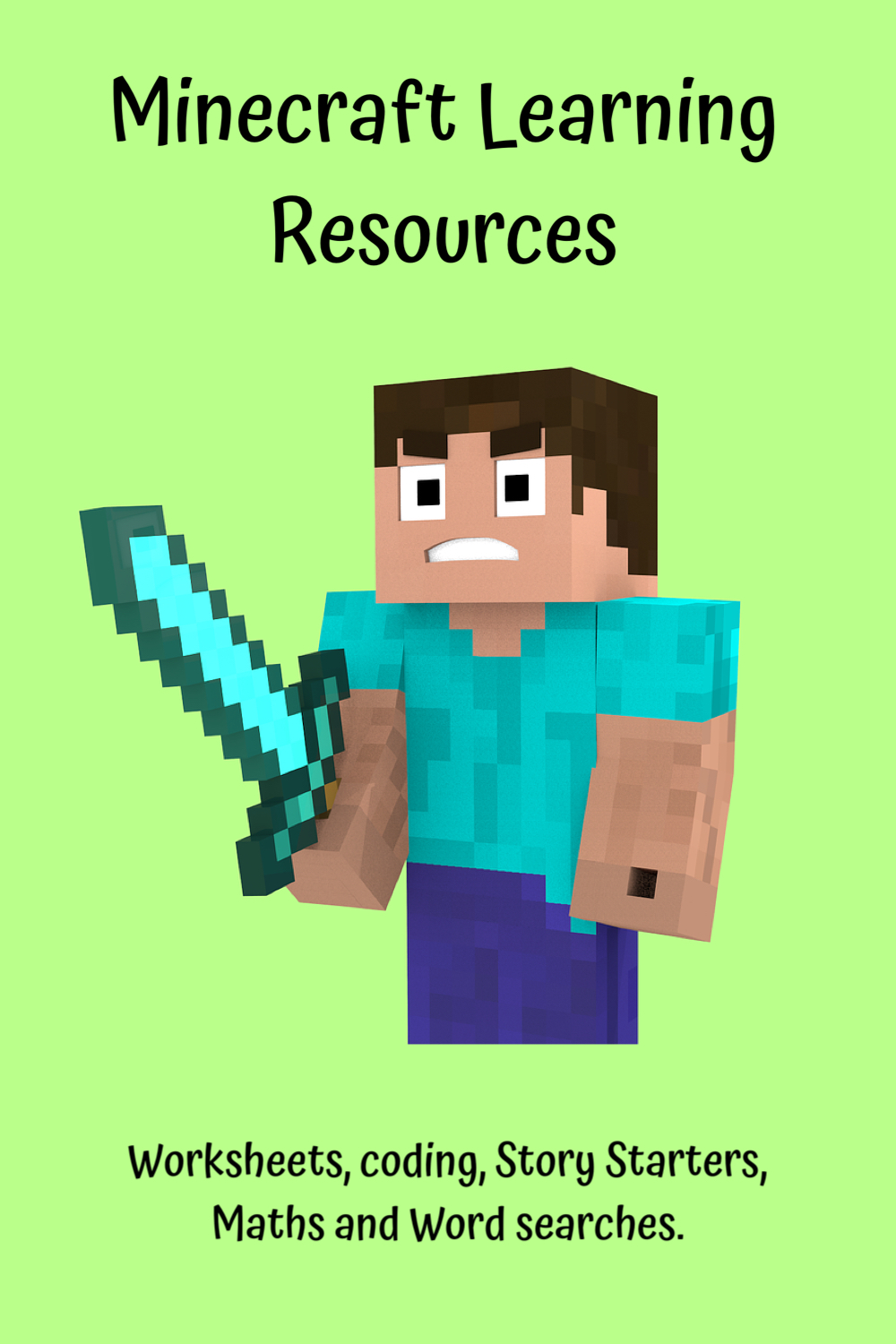 Minecraft learning resources - worksheets, coding, maths, story starters and word searches.
