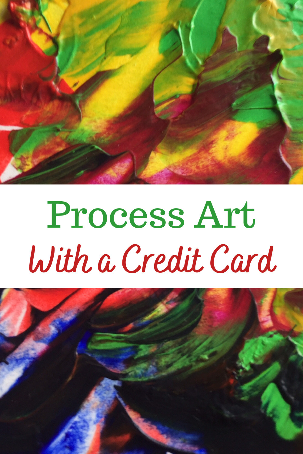 Process art with a credit card
