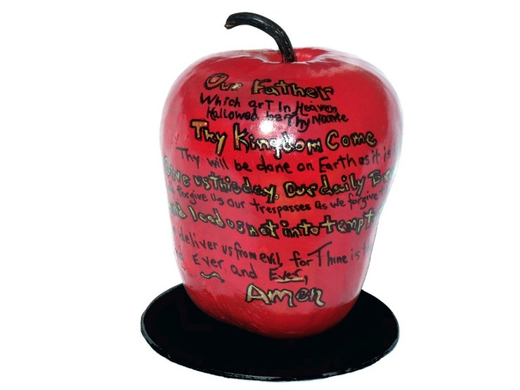 Lord's Prayer on an Apple